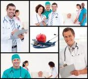 Montajes del concepto del cuidado médico y de la nutrición Imagen de archivo libre de regalías