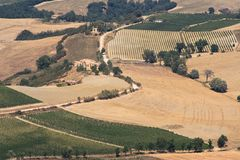 montalcino视图 库存照片