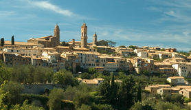 Montalcino. In Montalcino, Tuscany the famous Brunello wine is produced royalty free stock images
