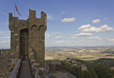 Montalcino Castle, tower architectural detail Stock Photo