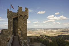 Montalcino Castle, tower architectural detail Royalty Free Stock Photography