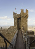 Montalcino Castle, tower architectural detail Stock Images
