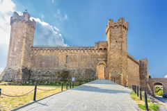 Montalcino castle Stock Photos