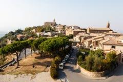 Montalcino, die Stadt des Brunello Weins Lizenzfreie Stockfotografie