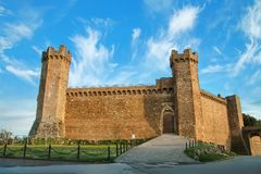 Medieval Montalcino Fortress in Val d`Orcia, Tuscany, Italy Royalty Free Stock Photography