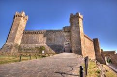 Montalcino kasztel Obraz Royalty Free