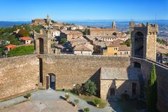 Montalcino old castle in Tuscany Stock Image
