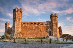 Montalcino, Siena, Toscana, Italia: la fortezza medievale Immagine Stock