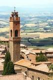Montalcino in Toscanië Stock Foto's