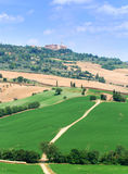 Montalcino in Toscanië royalty-vrije stock afbeelding