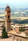 Montalcino in Toskana Stockfotos