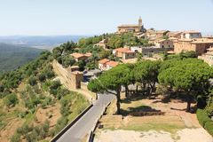 Montalcino in Tuscany, Italy royalty free stock images