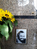 MONTALE, MODENA, ITALY, APRIL 2016, tomb of Luciano Pavarotti Royalty Free Stock Image