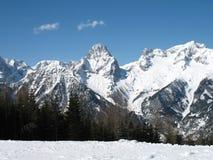 Montan@as del invierno Fotos de archivo libres de regalías