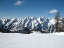 Montan@as del invierno Imagen de archivo libre de regalías