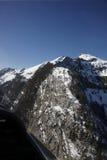 Montan@as del suizo de la visión aérea Foto de archivo