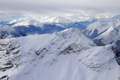 Montan@as en invierno Imagen de archivo