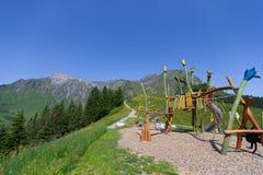 Montan@as en Suiza Foto de archivo libre de regalías