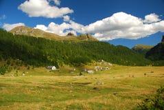 Montan@as italianas. Alpe Veglia Imagen de archivo libre de regalías