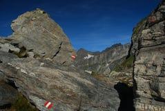 Montan@as italianas, rastro de la alta altitud Imagen de archivo libre de regalías