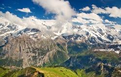 Montan@as, Suiza Imágenes de archivo libres de regalías