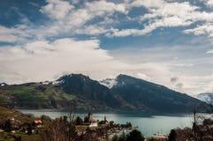 Montan@as Suiza Imagen de archivo libre de regalías