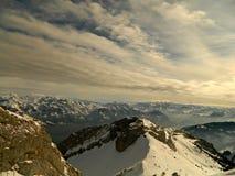 Montan@as suizas Fotografía de archivo