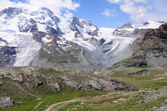 Montan@as suizas. Fotos de archivo libres de regalías