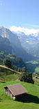 Montan@as suizas, Jungfrau Tal Imágenes de archivo libres de regalías