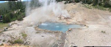 Montana's naturalny stan przy Yellowstone parkiem narodowym fotografia stock