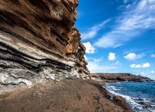 Montana Amarilla in Costa del Silencio Tenerife Fotografia Stock