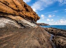 Montana Amarilla in Costa del Silencio. Tenerife Stock Photography
