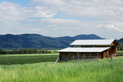 Montana Barn Royalty Free Stock Photos