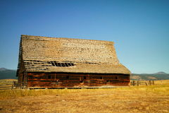 Montana barn Stock Photography