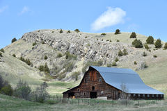 Montana Barn In Summer Royalty Free Stock Photo