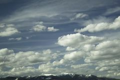 Montana Big Sky. The big sky in Montana near the town of Butte Stock Photography