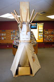Montana billings  information center tepee Royalty Free Stock Image