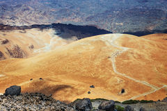 Montana Blanca en parc national de Teide, Ténérife Images stock