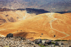 Montana Blanca en parc national de Teide, Ténérife Photos stock