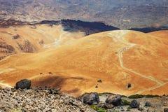 Montana Blanca i den Teide nationalparken, Tenerife Arkivfoton