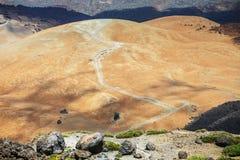 Montana Blanca in Nationalpark Teide, Teneriffa Lizenzfreies Stockbild