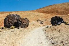 Montana Blanca no parque nacional de Teide, Tenerife fotos de stock royalty free