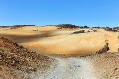 Montana Blanca, Teide National Park, Tenerife Stock Photography