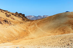 Montana Blanca, Teide National Park, Tenerife, Canary Islands, Spain Royalty Free Stock Photography