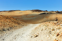 Montana Blanca, Teide National Park, Tenerife, Canary Islands, Spain Royalty Free Stock Photos