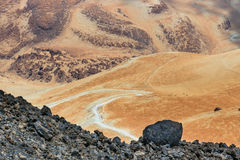 Montana Blanca, Teide National Park, Tenerife, Canary Islands, Spain Stock Photography