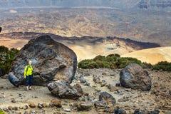Montana Blanca Teide nationalpark, Tenerife, kanariefågelöar, Spanien Arkivfoto