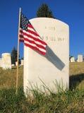 Montana - cementerio nacional de Custer Foto de archivo libre de regalías