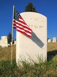 Montana - cemitério nacional de Custer Foto de Stock Royalty Free