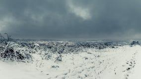 Montana coberto de neve Fotografia de Stock Royalty Free
